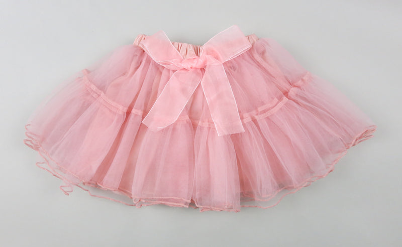 Coral  2 Part Silk Bow Tutu