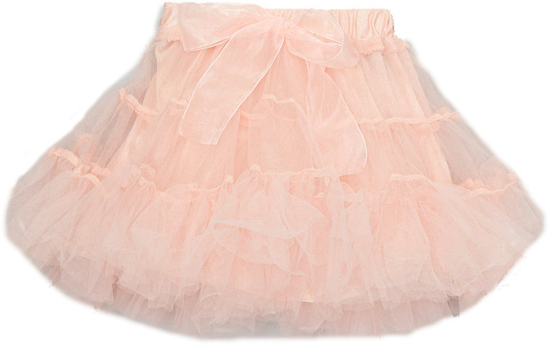 Coral 3 Part Silk Bow Tutu