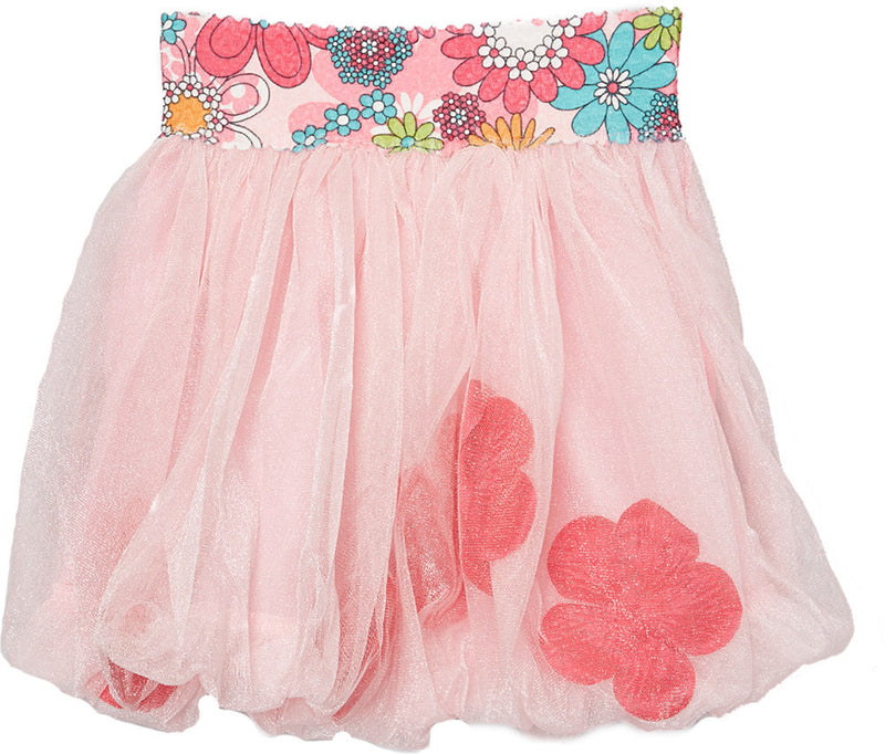 Pink Bubble Skirt With Hot Pink Petal