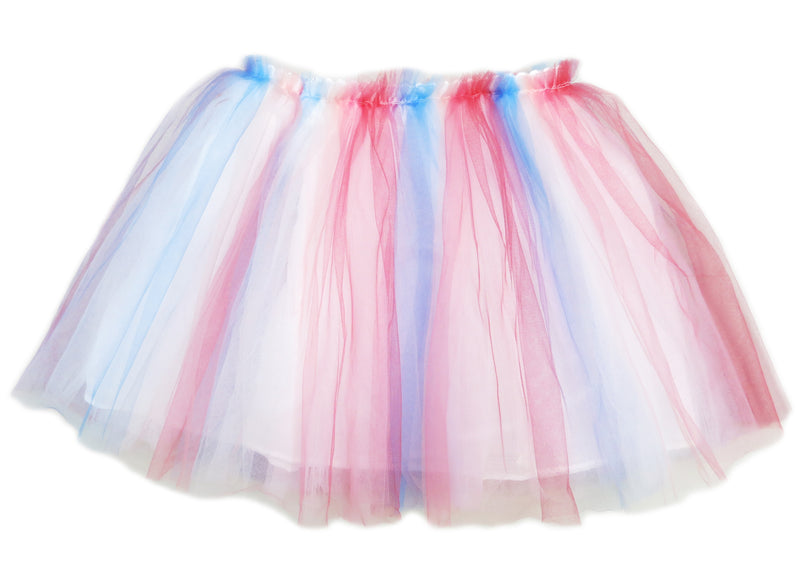 Red Blue White Tutu Skirt
