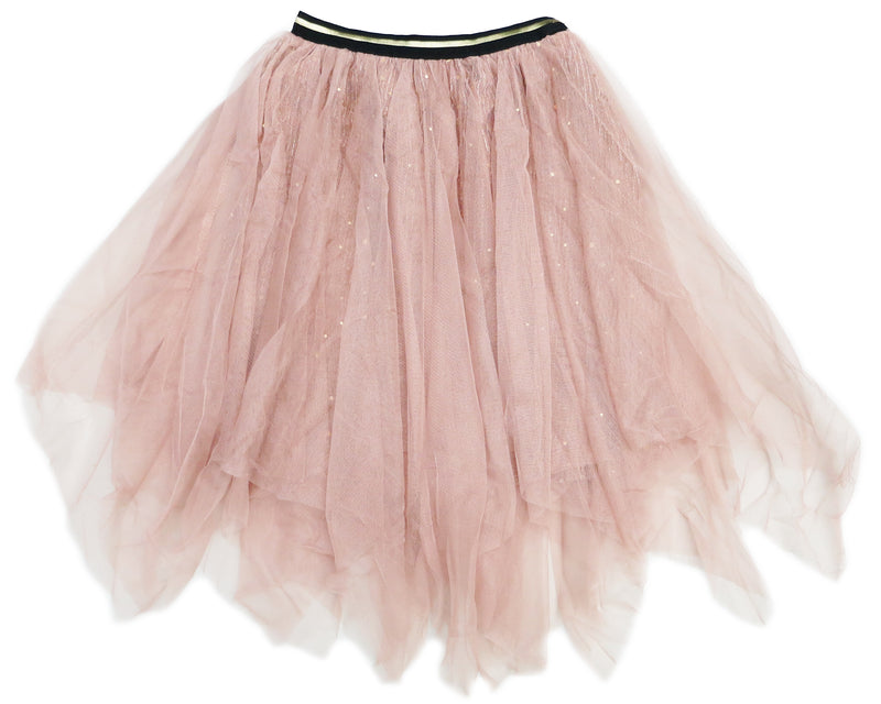 Peach Glitter Uneven Cut Tutu Skirt