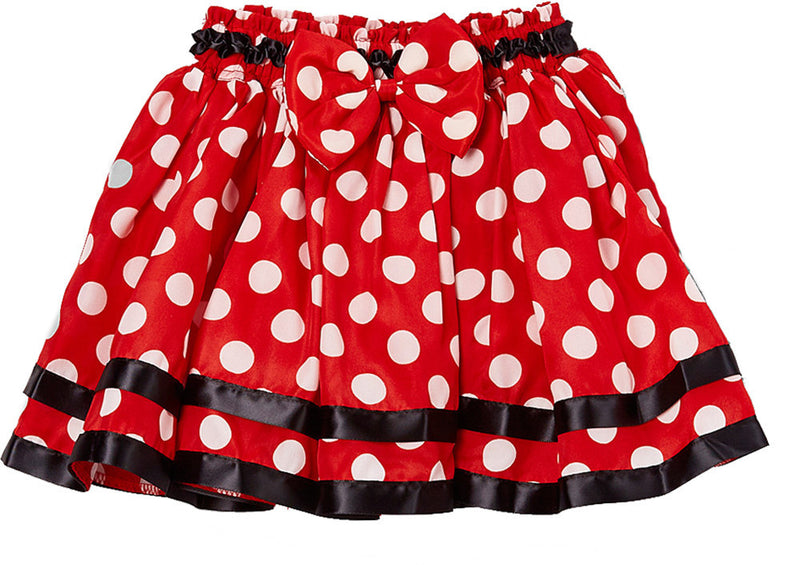 Black Ribbon Red Polka Dot Chiffon Tutu Skirt