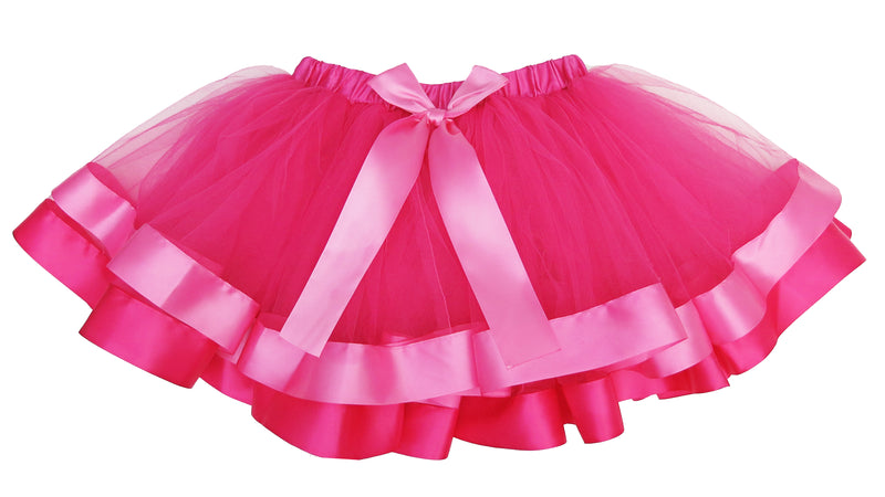 Hot Pink & Pink Wide Ribbon Tutu