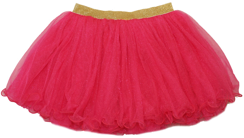 Gold Elastic Hot Pink Tutu Skirt