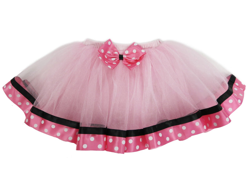 Pink Minnie Polka dot  Ribbon Tutu Skirt