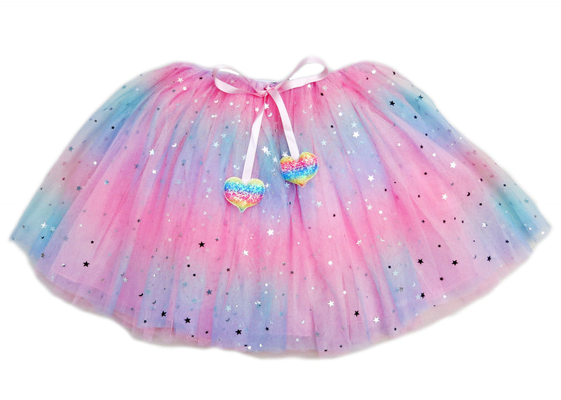 JoJo Siwa Rainbow Start/Moon Tulle Tutu Skirt