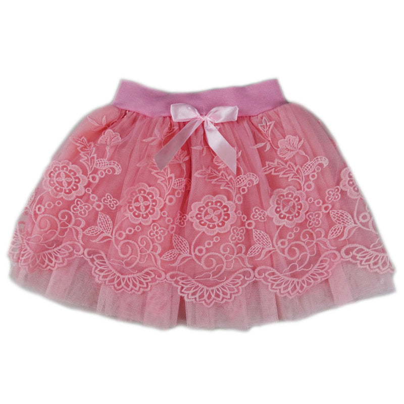 Coral Lace Tutu Skirt