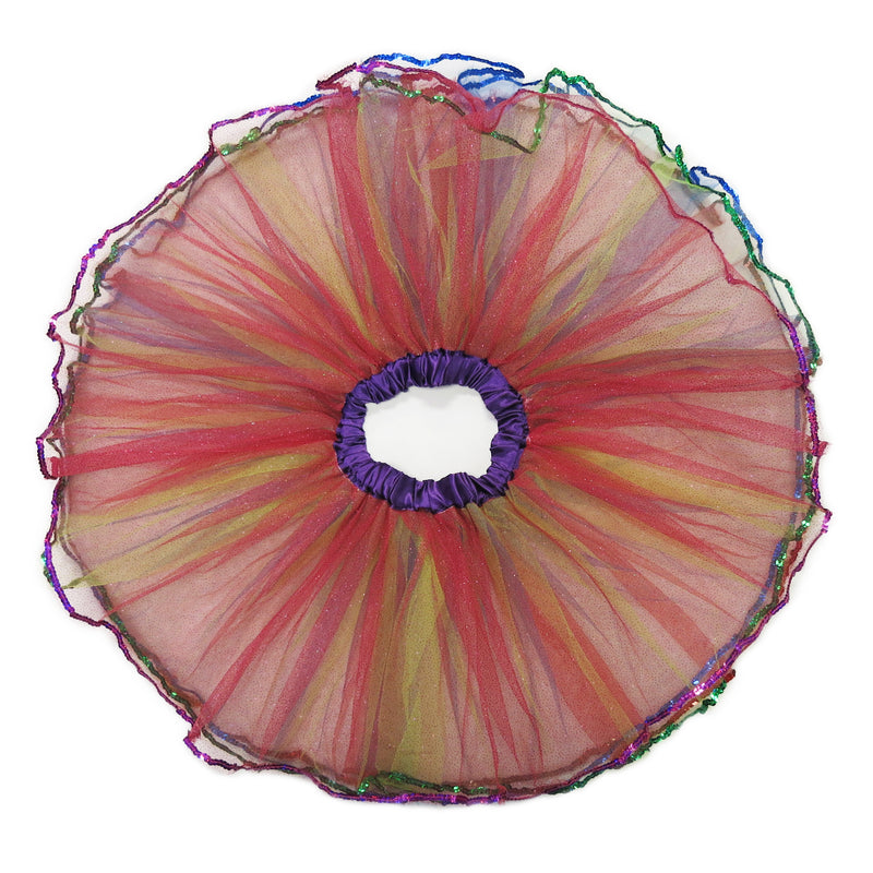 Rainbow Sequins 4 Layers Tutu