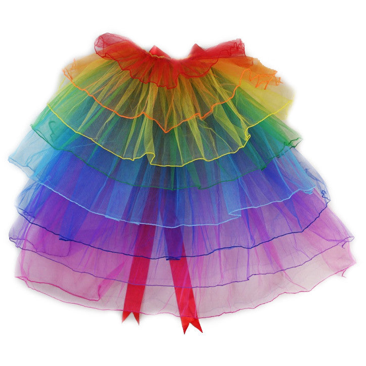 Rainbow Layers Bustle