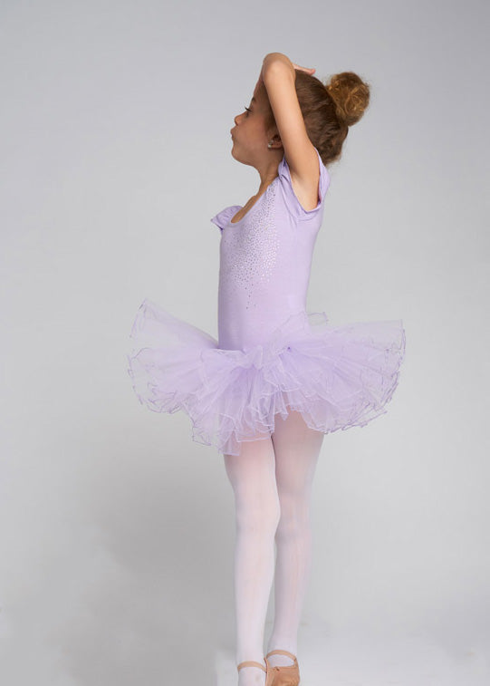 Lavender Rhinestone & Bow Ballet Dress