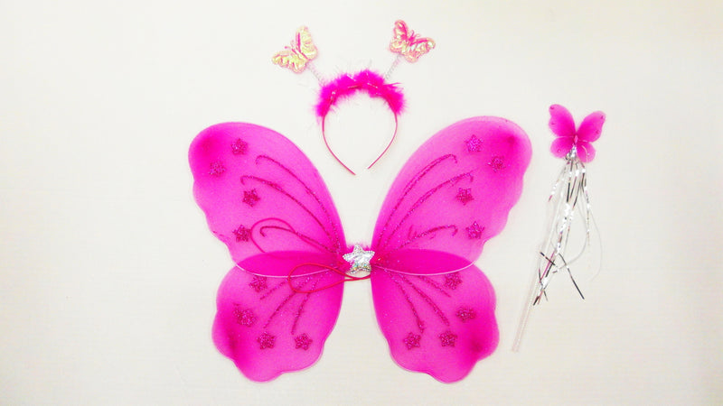 Hot Pink Star Wing Set