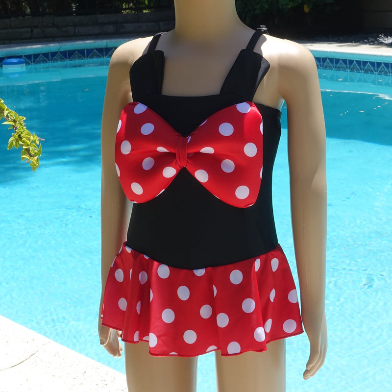 Mickey 1-Piece Bow Cap Swimming Suit