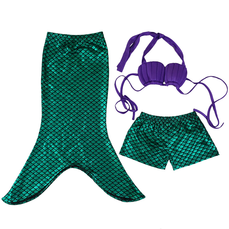 Green Mermaid 3-Pieces Swimming Suit