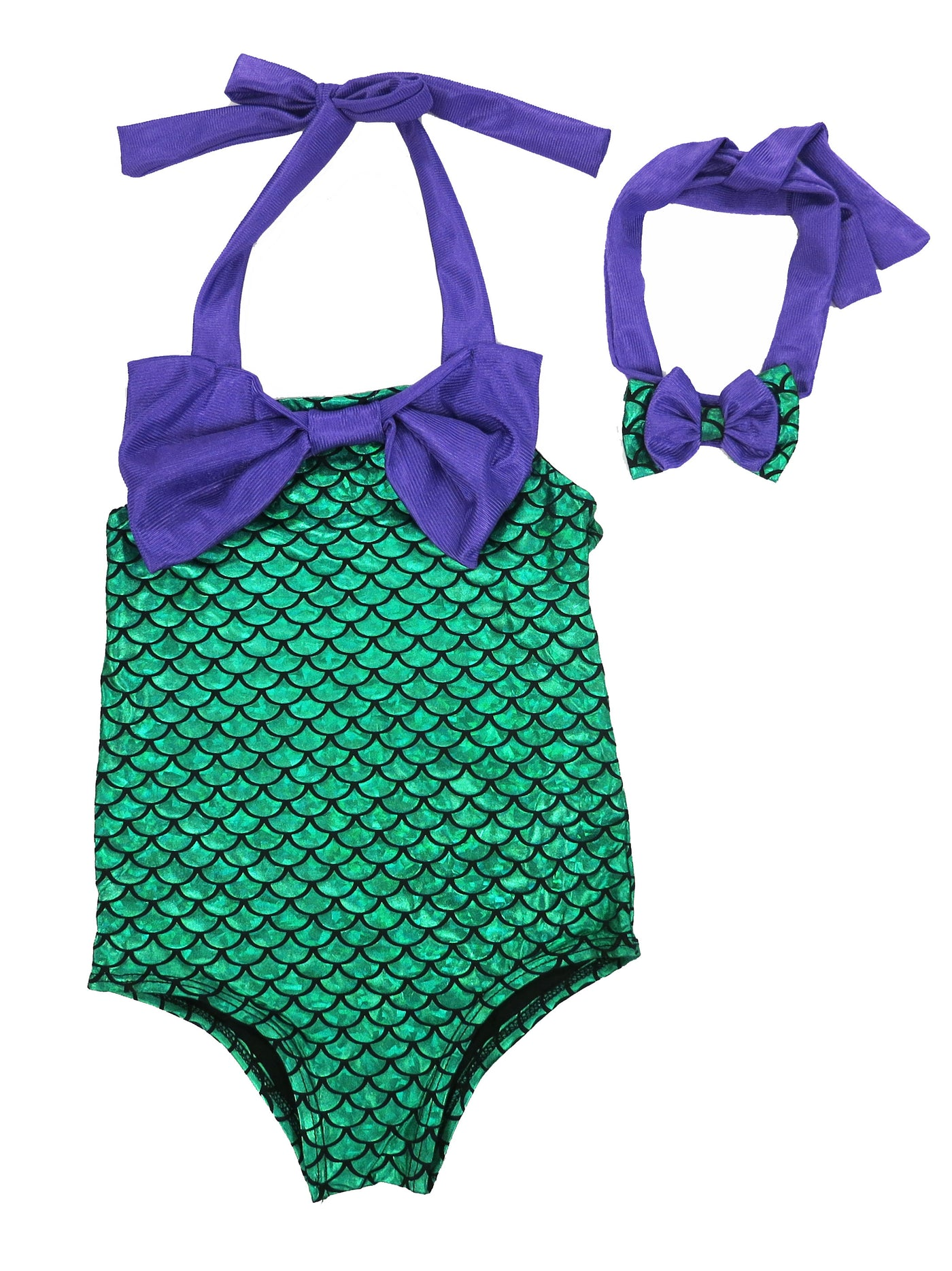 Green Mermaid 3 Pieces Swimming Suit Wenchoice
