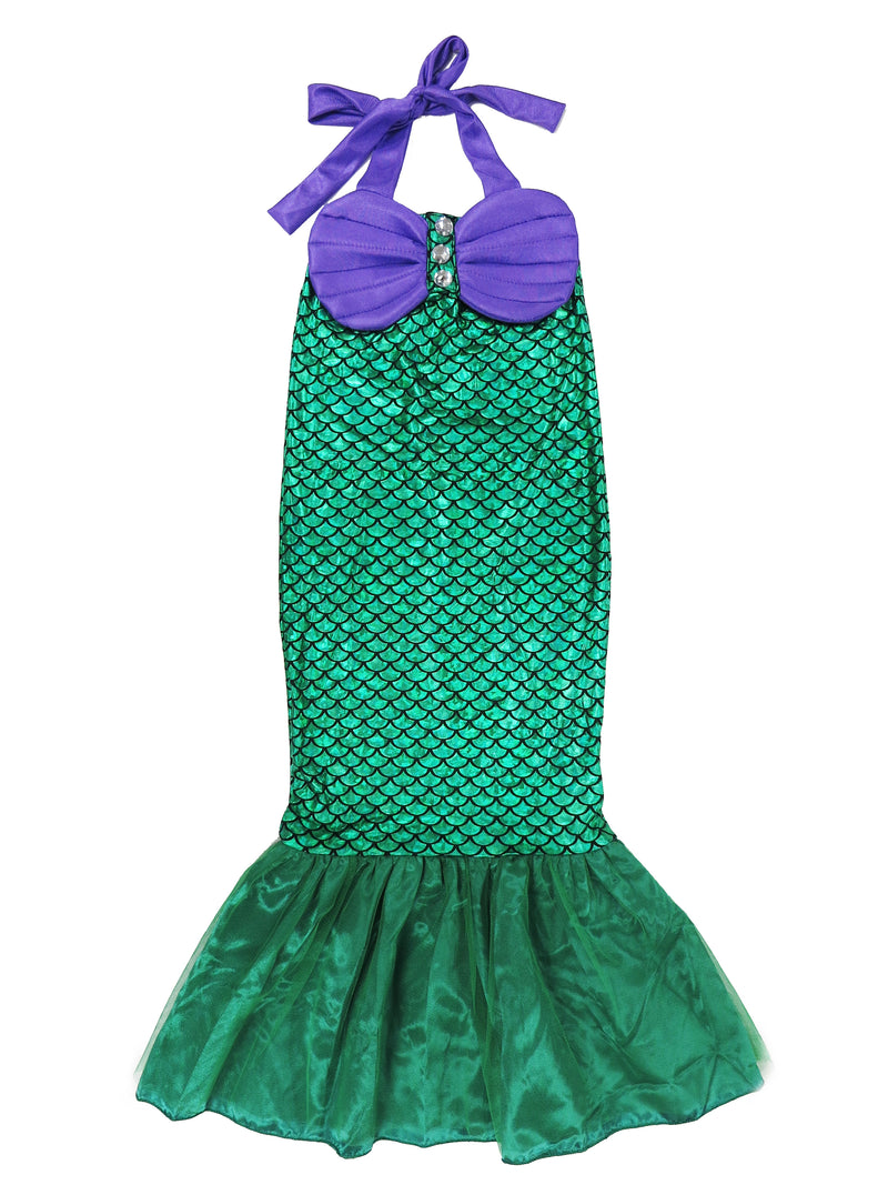 Green Mermaid Skirt Tail Dress