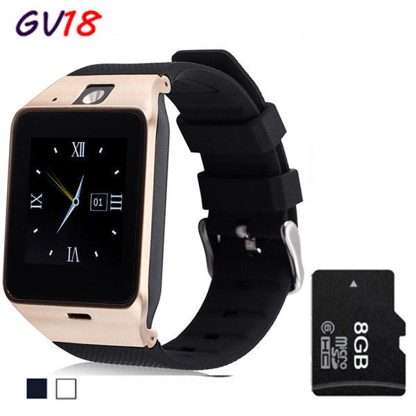 Bluetooth Smart Watch GV18 For Apple iphone IOS Android Phone