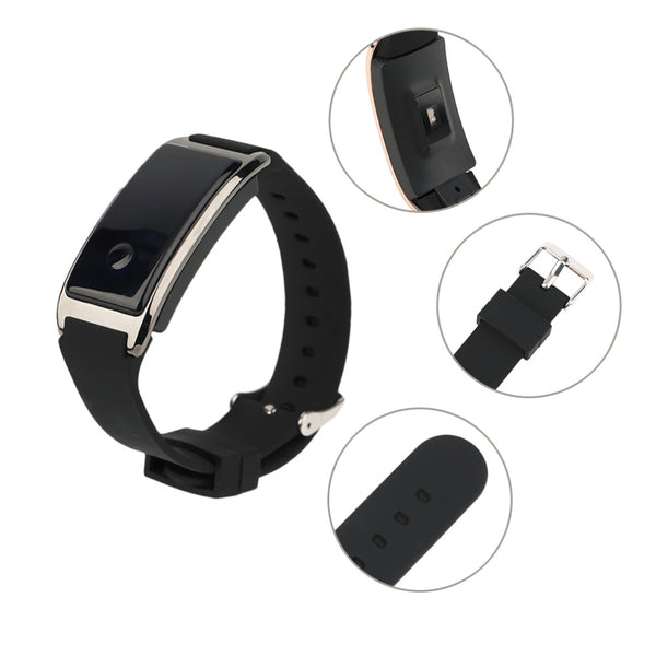 Waterproof IP68 Smart Bracelet Silicone Heart Rate Monitoring Smart Wristband