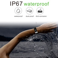 Smart Heart Rate Bracelet IP67 Waterproof Silica Gel Sport Bluetooth M4 4.0 Step Health Monitoring Blood Pressuree