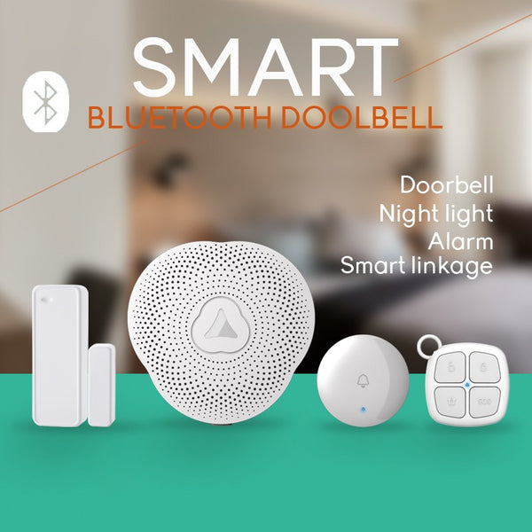 NEW Safurance Wireless Smart Bluetooth Doorbell APP Control Door Sensor Night Light 433MHz Alarm System Home Security