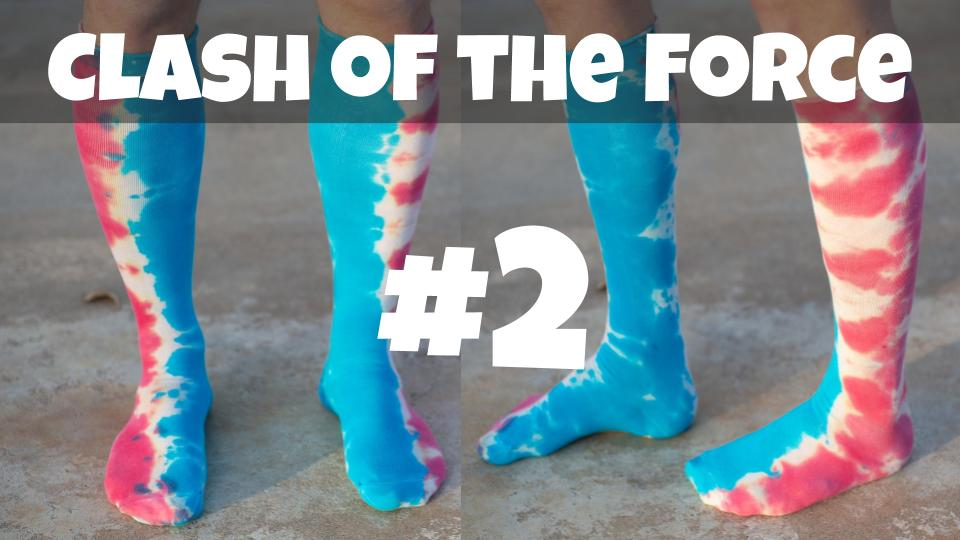 Clash of the Force | Star Wars Inspired Tie Dye Socks | Episode 2/7
