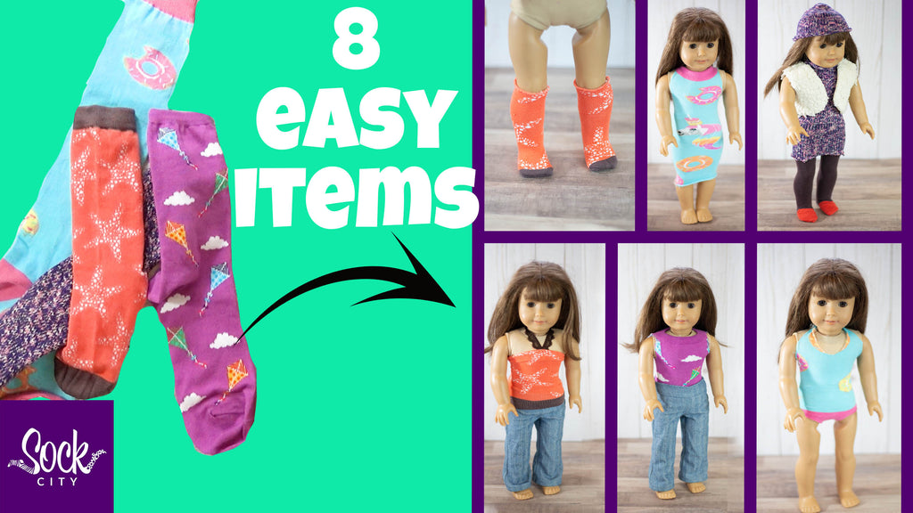 Make Doll Clothes from Socks | Easy DIY