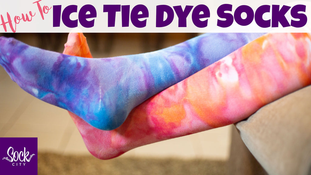 How to Ice Tie Dye Socks | Watercolor Effect Socks | Fun Sock Creations