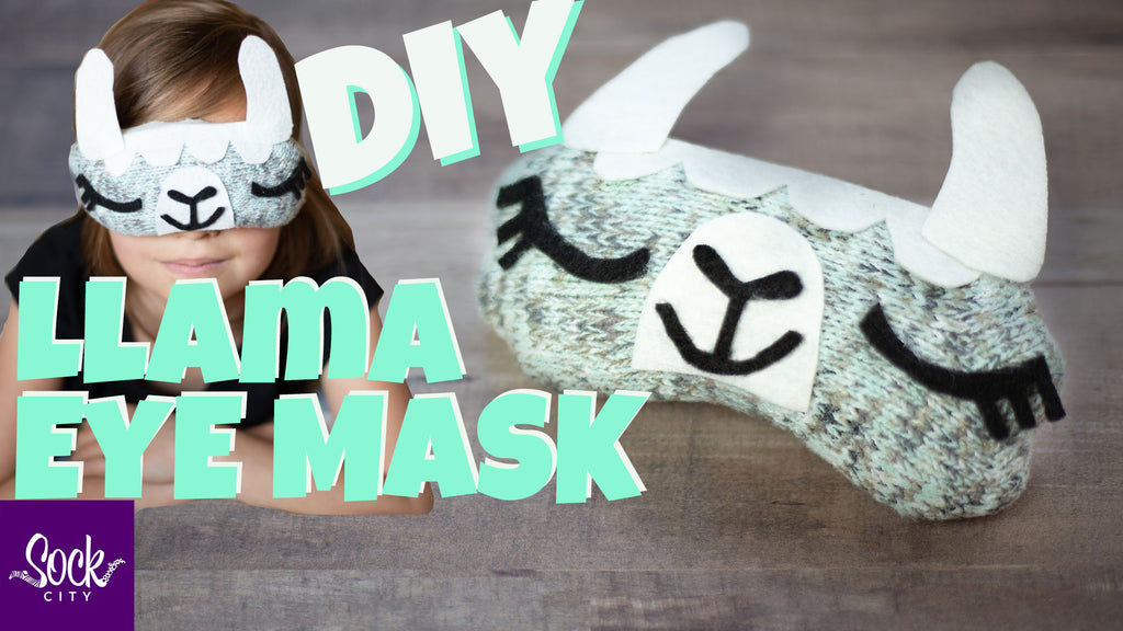 How to Make a Llama Sleep Eye Mask | Free Pattern | Fast and Easy DIY
