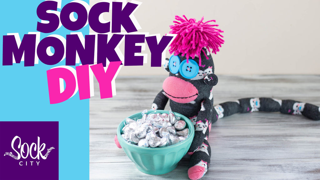 DIY Sock Monkey | No Upside Down Pattern: Keep the Sock Up Right