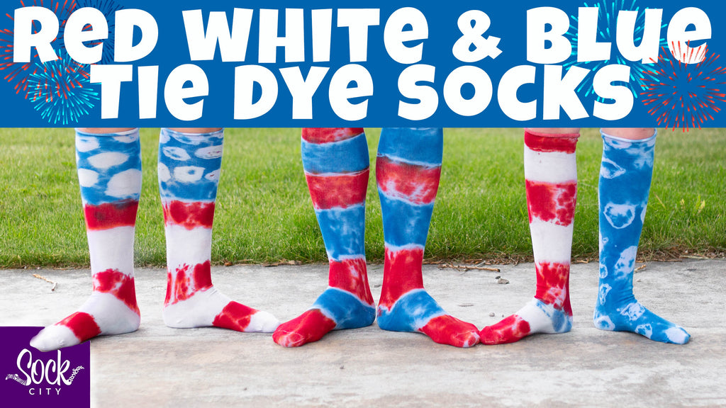 Red, White & Blue Tie Dye Socks | DIY Tutorial