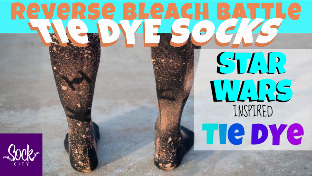 Easy and Fast Reverse Bleach Socks | DIY Star Wars Inspired Tie Dye Socks | Episode 7/7