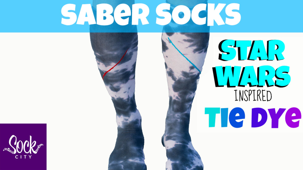Lightsaber Socks | Star Wars Inspired Tie Dye Socks | Episode 3/7