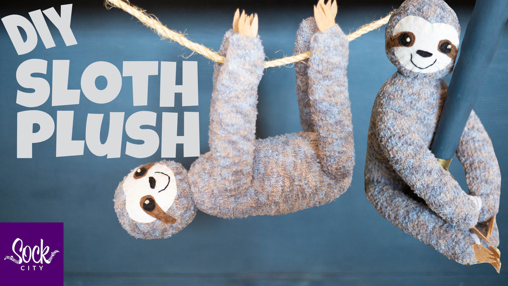 Easy DIY Sloth Plushie Made from ONE Pair of Socks