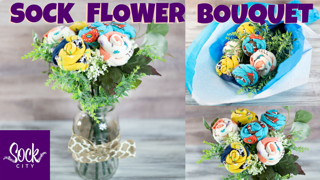 How to Make Sock Flowers and a Bouquet | DIY Gift | Fast & Easy