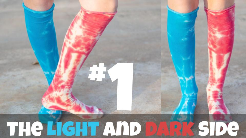The Light and Dark Side | Star Wars Inspired Tie Dye Socks | Episode 1/7
