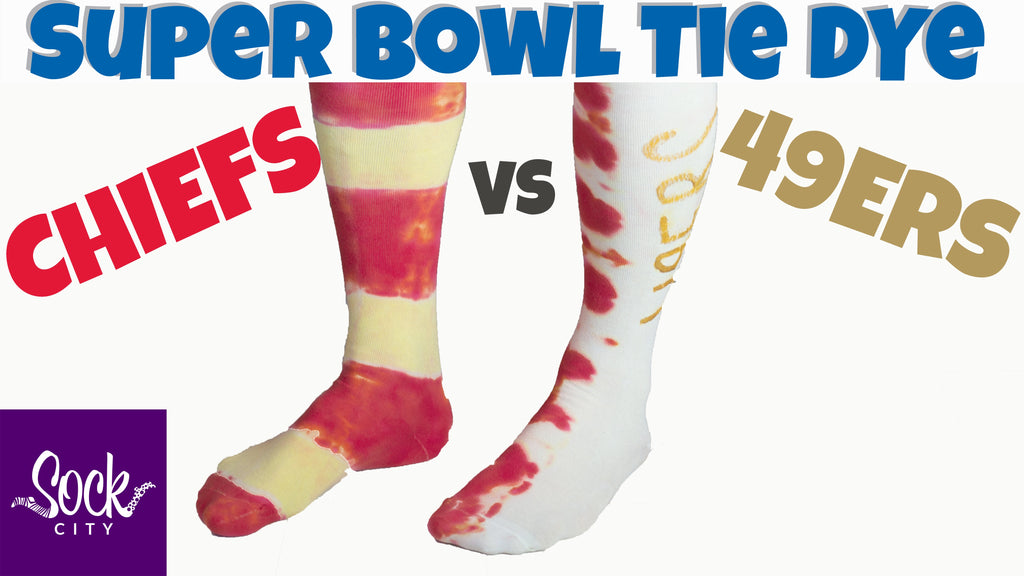 Super Bowl Tie Dye Socks | Chiefs vs 49ers | Fun Sock Creations
