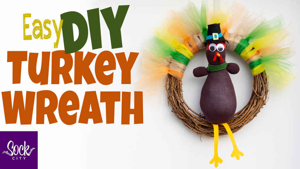 Turkey Wreath | Easy DIY | Fall & Thanksgiving Decorations