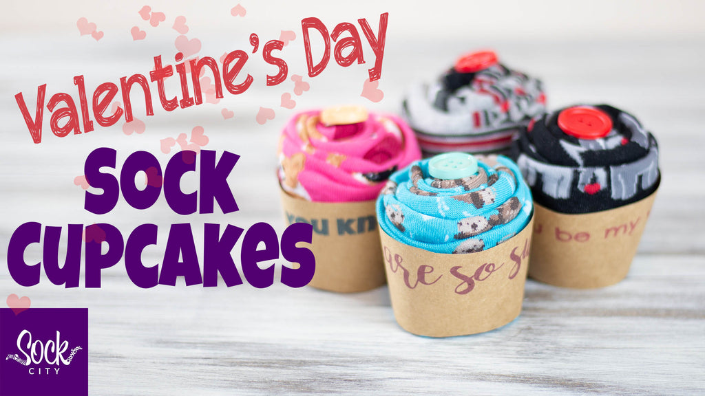 How to Make Valentine's Day Sock Cupcakes