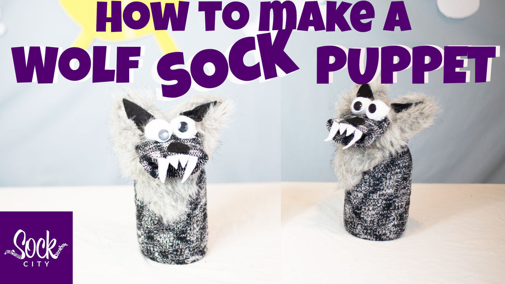How to Make a Wolf Sock Puppet | Fast & Easy DIY | Puppet Show Series #2