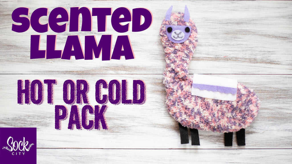 DIY Scented Llama Hot or Cold Pack Compress | Made from One Sock