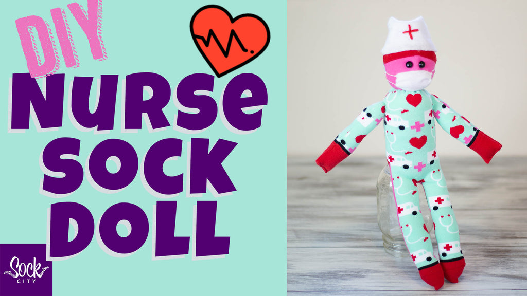 How to Make a Nurse Sock Doll | DIY Doll from Socks