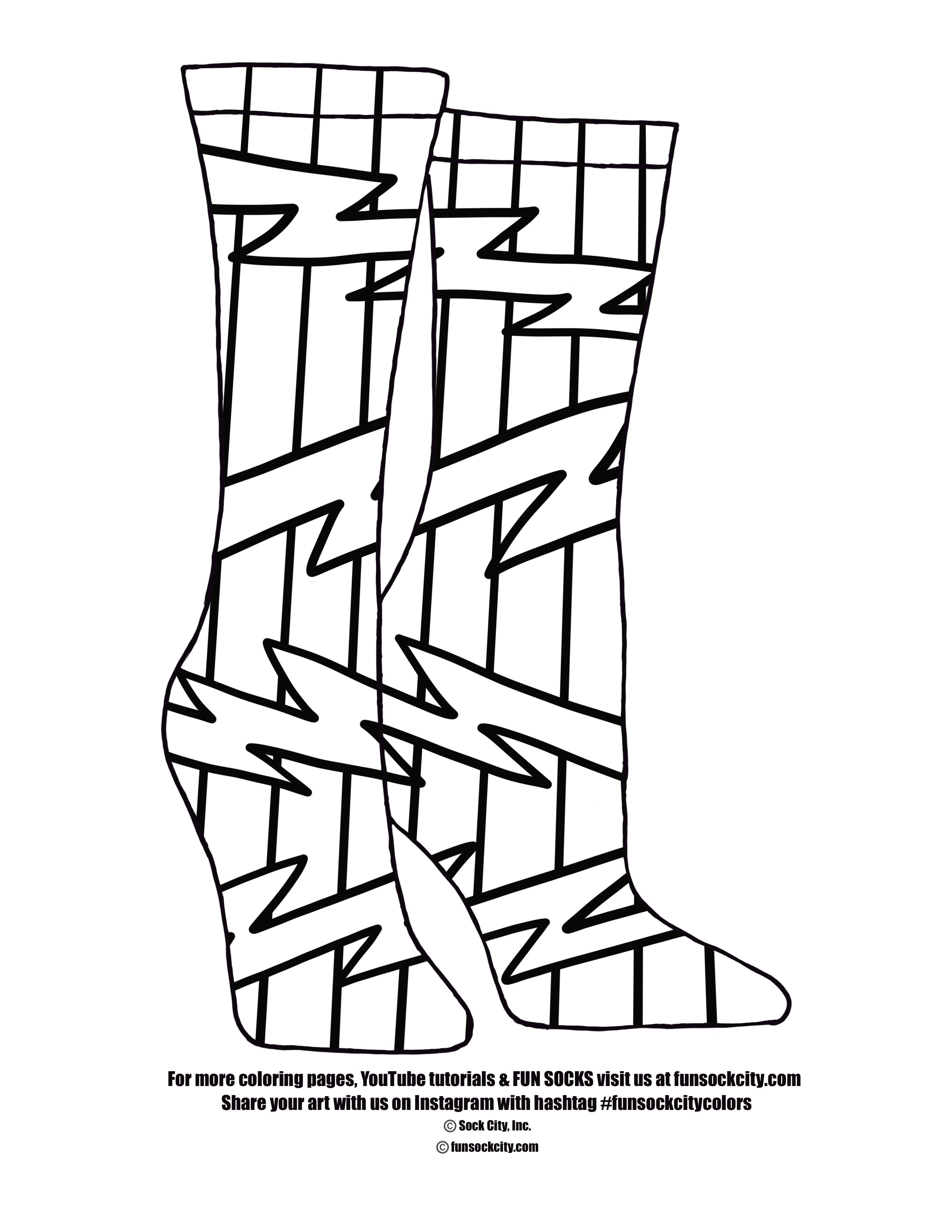 Bolt Sock Coloring Page