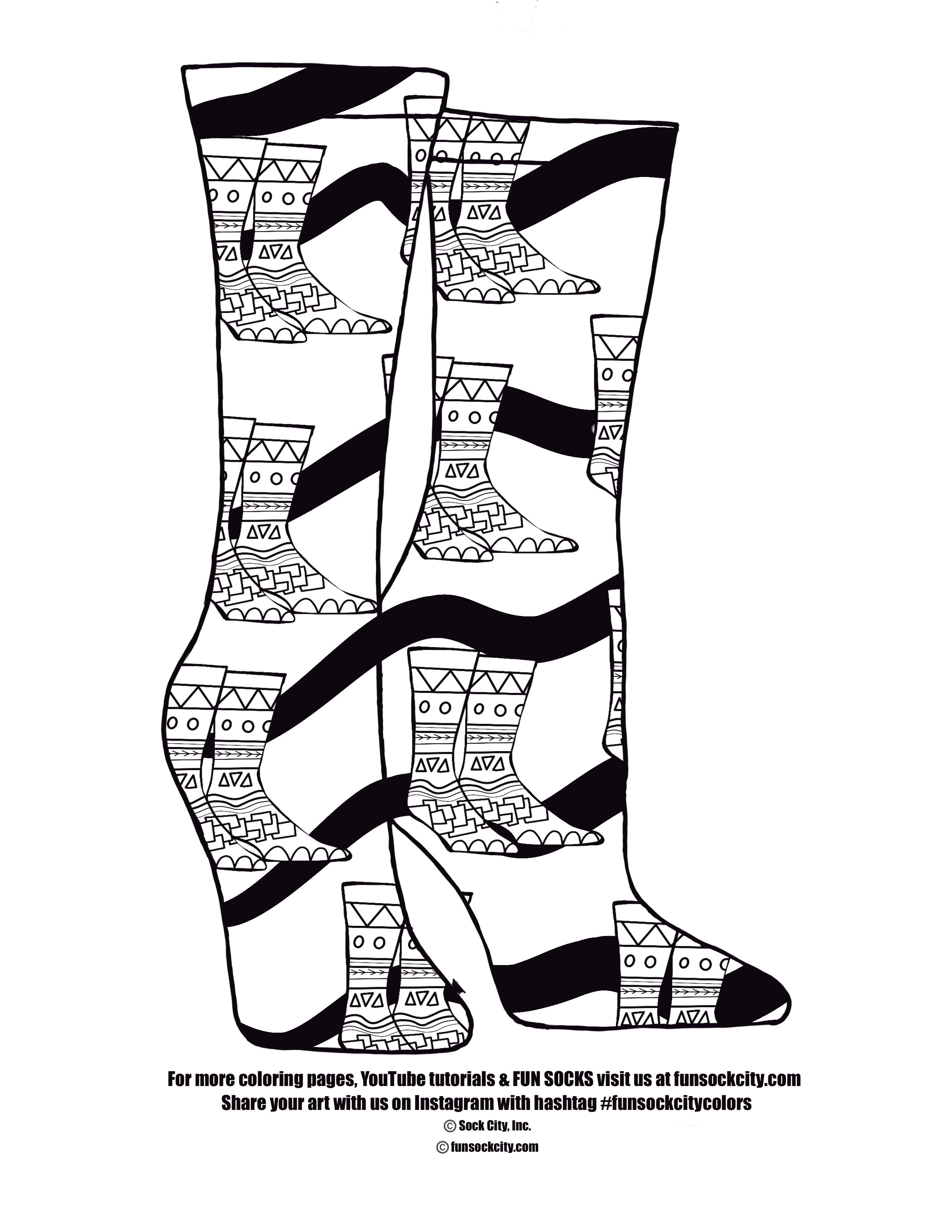 Sock Sock Coloring Page