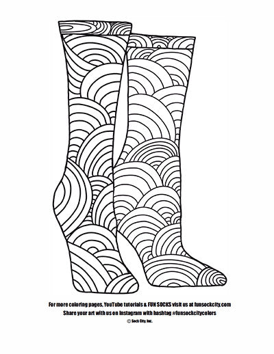 Sunrise Sock Coloring Page