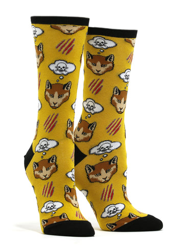 Women's Moody Cat Socks