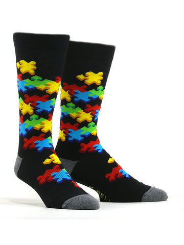 Men's Bright Puzzle Socks