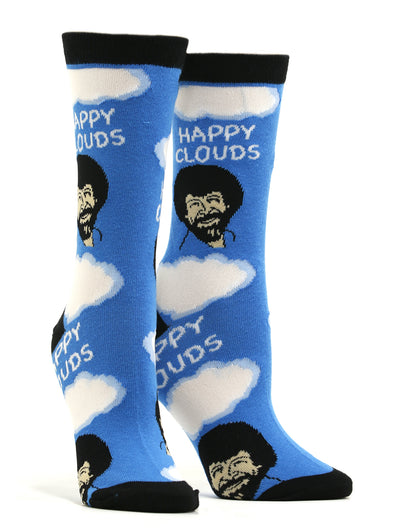 Women's Bob Ross - Happy Clouds Socks