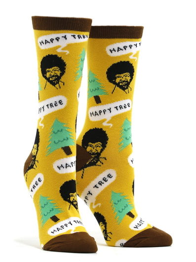 Women's Bob Ross - Happy Tree Socks