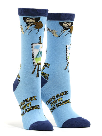 Women's Bob Ross - Little Squirrel Socks