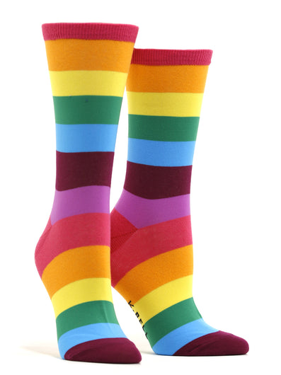 Women's Rainbow Stripes Socks