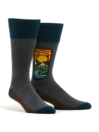 "Men's AtomicChild ""Brew With A View"" Hiking Socks"